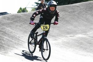Michael Ranford (124) exits the corner at Taupo